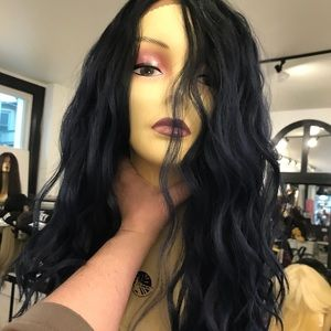 Accessories - Blue Wig wavy Lacefront Long middle part blend